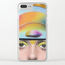 Intergalactic Girl Clear iPhone Case