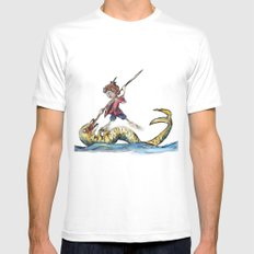 Saint George and the Dragon Mens Fitted Tee White MEDIUM