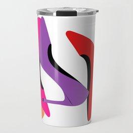 Colorful high heel shoes graphic illustration Travel Mug