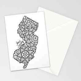 New Jersey Mandala Stationery Cards