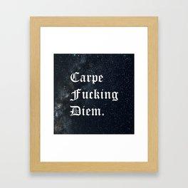 Carpe Diem (Seize The Day) Framed Art Print