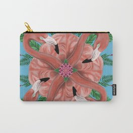 Flamingo Tropical Mandala Carry-All Pouch
