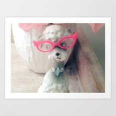 pussycat glasses Art Print