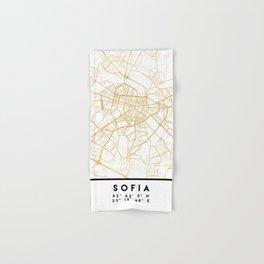 SOFIA BULGARIA CITY STREET MAP ART Hand & Bath Towel