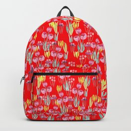 Tulips in red Backpack