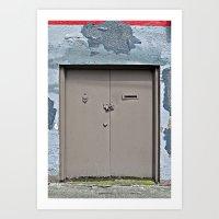 plain Art Prints featuring Plain Door by Ethna Gillespie