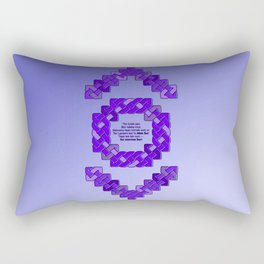 Indigo Lantern Symbol & Oath Rectangular Pillow