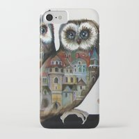 medieval iPhone & iPod Cases featuring medieval owls by oxana zaika