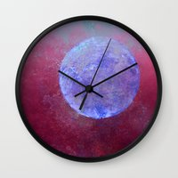 middle earth Wall Clocks featuring middle by Claudia Drossert