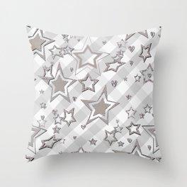 Holiday decor, shiny stars ,Christmas 2 Throw Pillow