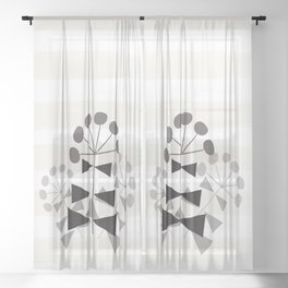 Floral Vase 2  #society6 Sheer Curtain