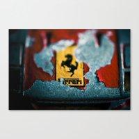 ferrari Canvas Prints featuring Ferrari by Jean-François Dupuis