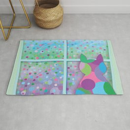 Beautiful Rainy Day Rug