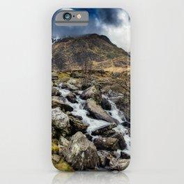 Glyderau Mountain Winter iPhone Case