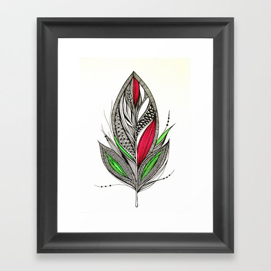 Harvest Feather Framed Art Print
