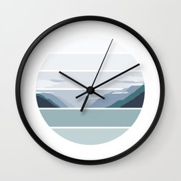 Alaskan Greens Wall Clock