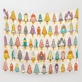 retro rockets eggshell Wall Tapestry