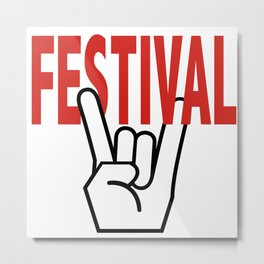 Festival Summer Music Metal Print