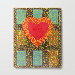 Hearts and Sparks Metal Print