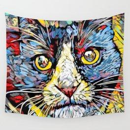Rainbow Tuxedo Cat Wall Tapestry