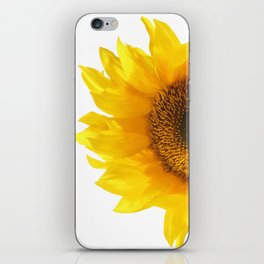 yellow sunflower iPhone Skin