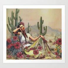 Flowers in the Desert Art Print