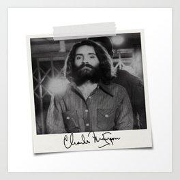 Manson Charles Signature Prison Art Print