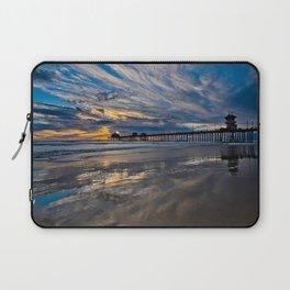HB Sunsets  1/6/16   /  Sunset At The Huntington Beach Pier Laptop Sleeve
