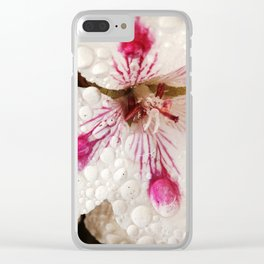 Flowers in the Summer Rain Clear iPhone Case