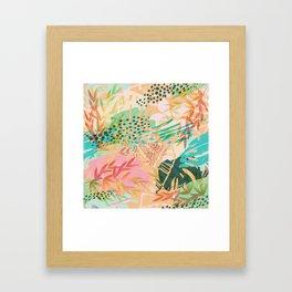Tropical Mixup Framed Art Print