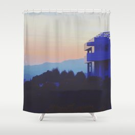 Sunset at the Getty Shower Curtain
