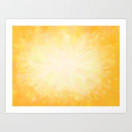 Golden Sunburst Art Print