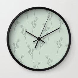 Wild Flower Doodle Pattern Wall Clock