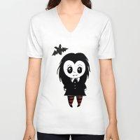 vampire V-neck T-shirts featuring Vampire by Chrystal Elizabeth