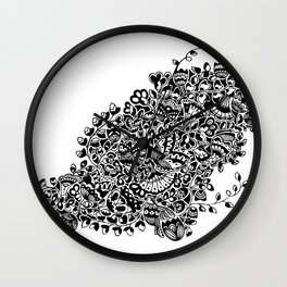 Butterflies in the Flowers Wall Clock