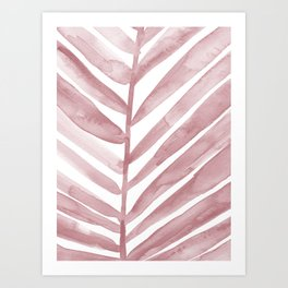 Pink Palm Leaf Crop Art Print