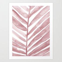 Pink Palm Leaf Crop Art Print
