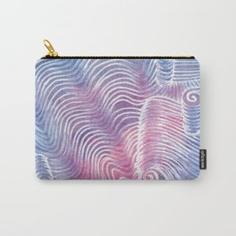 Blush Tint Abstract Carry-All Pouch