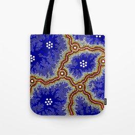 Aboriginal Art Authentic – Water Wetlands Tote Bag
