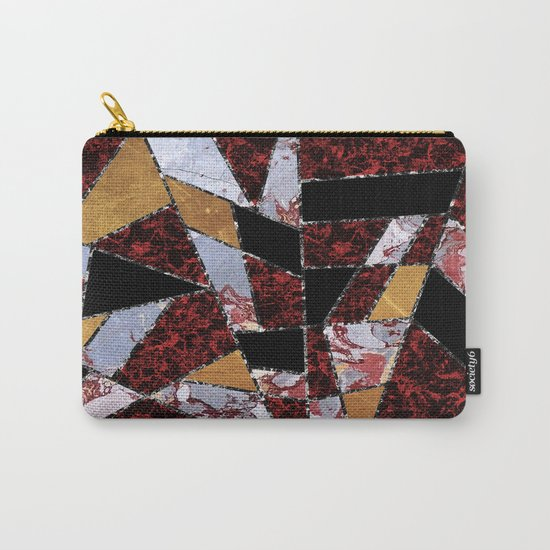 Abstract #459 Stone and Metal Shards Carry-All Pouch