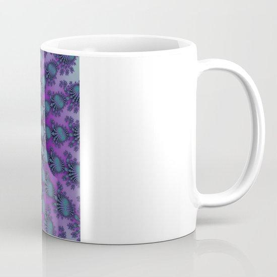 Cool Hued Purple Blue Braided Rug Fractal Mug