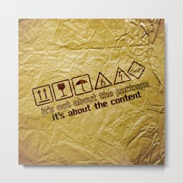 [ it's about the content ] Metal Print
