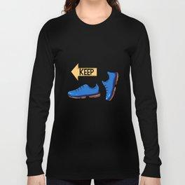 Keep Walking Yellow Sign Pilgrim Buen Camino Present gift Long Sleeve T-shirt