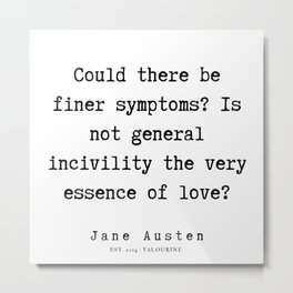 98    | Jane Austen Quotes | 190722 Metal Print