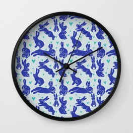 Bunny love - Blueberry edition Wall Clock