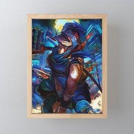 Blue Assasin Framed Mini Art Print