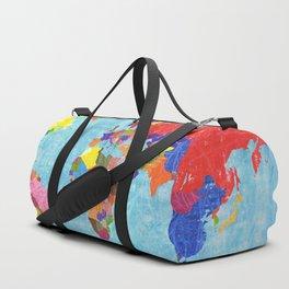 world map Duffle Bag