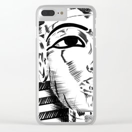 King Tut Clear iPhone Case