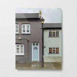 Charming houses in London Metal Print