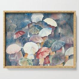 Umbrellas Serving Tray
